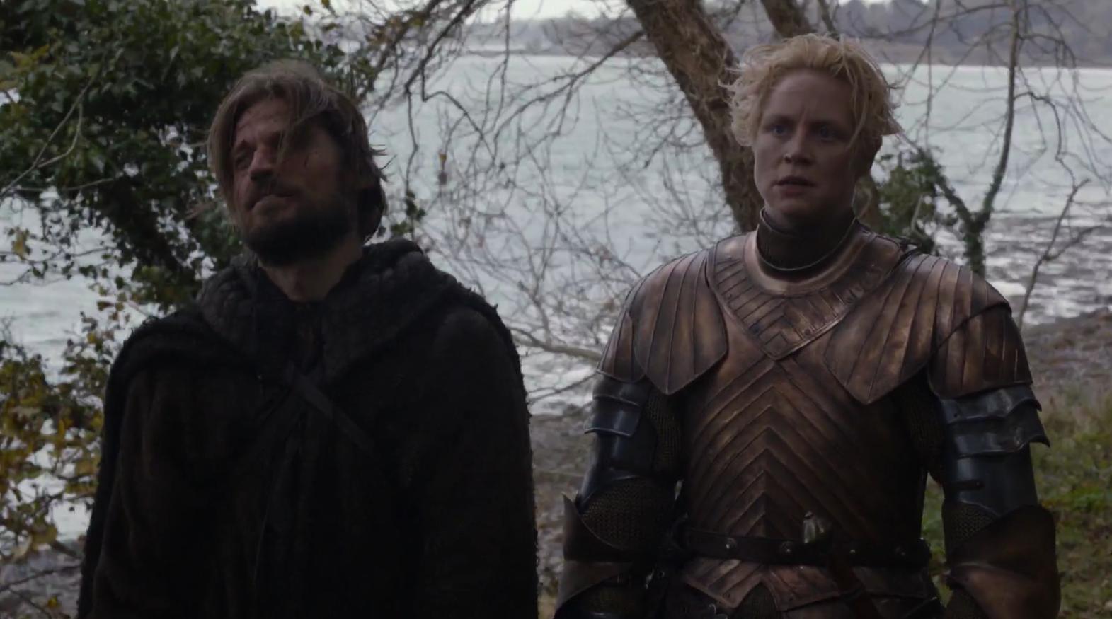 Jamie Lannister y Brienne Tarth