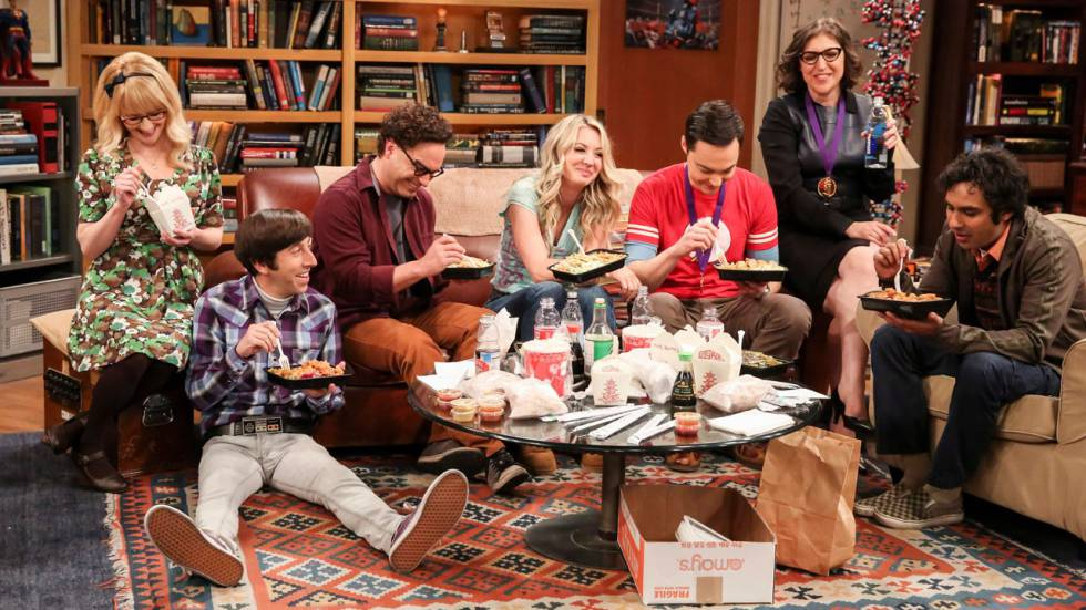Escena de cierre de The Big Bang Theory